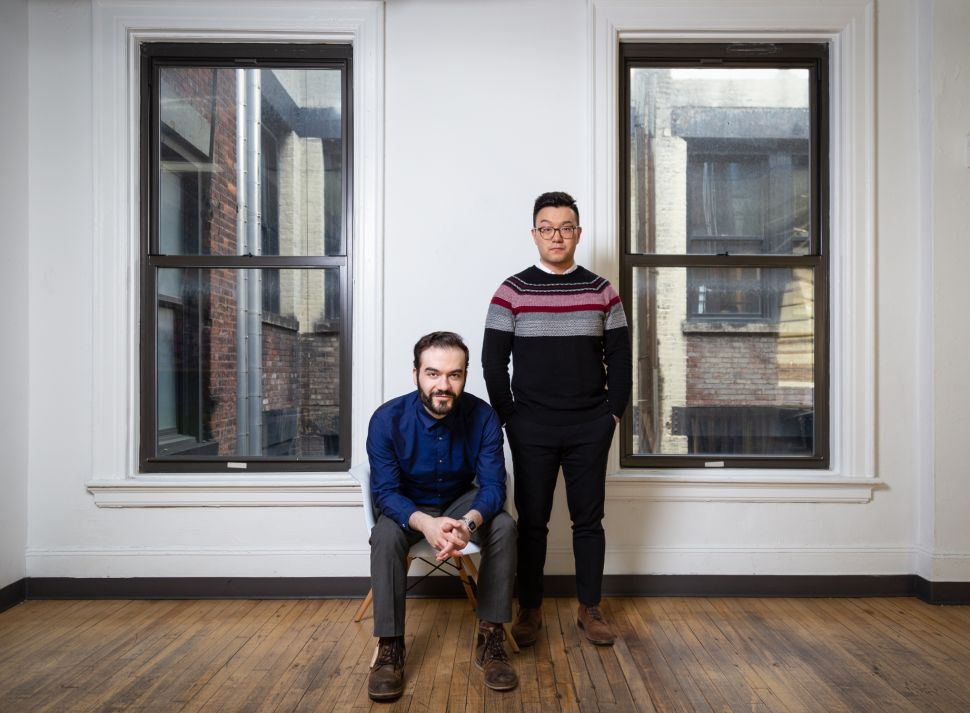 Vladimir Vukicevic (left) and Jerry Hu, co-founders of Meural.