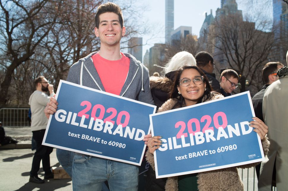 at the kickoff for Kirsten Gillibrand's Presidential Candidacy in New York on March 24, 2019.