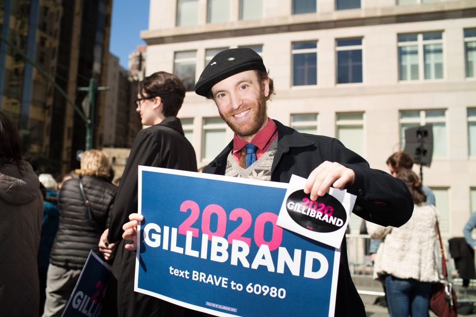 Aaron Netsky at the kickoff for Kirsten Gillibrand's presidential candidacy in New York on March 24, 2019.