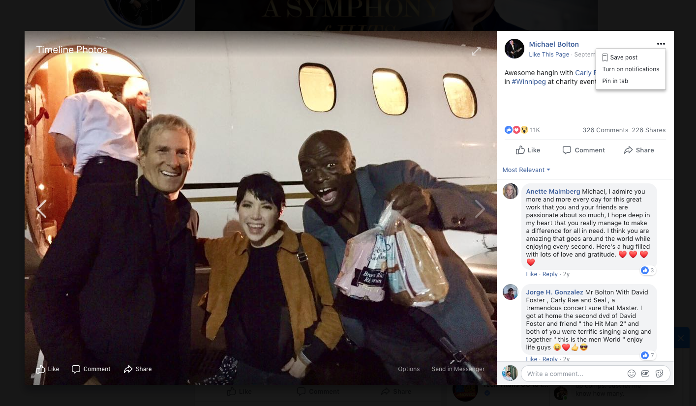 Michael Bolton, Carly Rae Jepsen and Seal.
