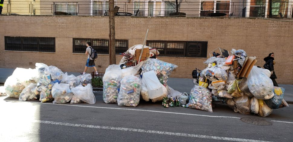 New York City's streets are drowning in garbage.