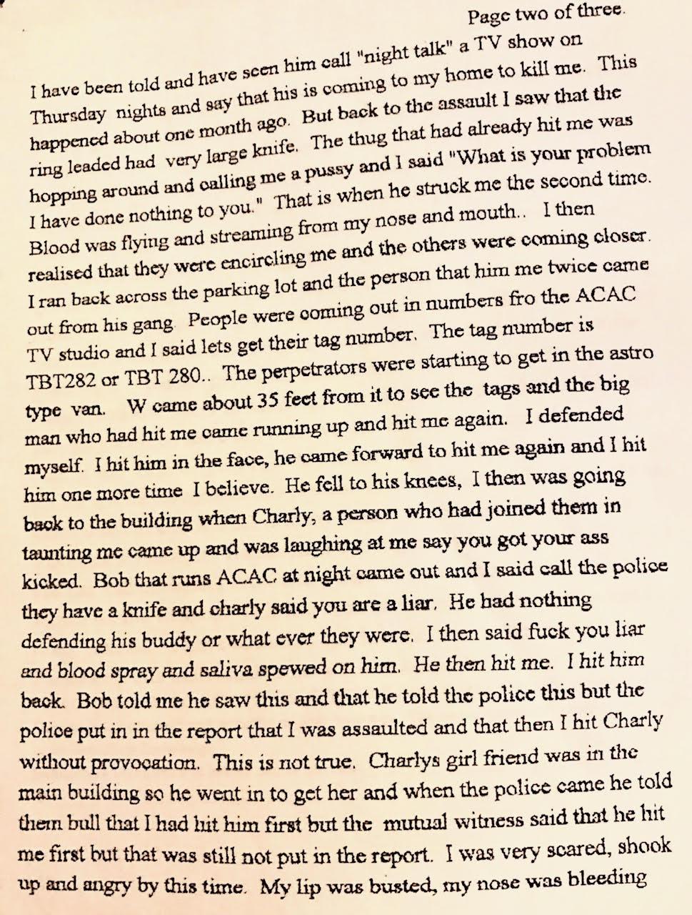 Alex Jones Austin Police Report