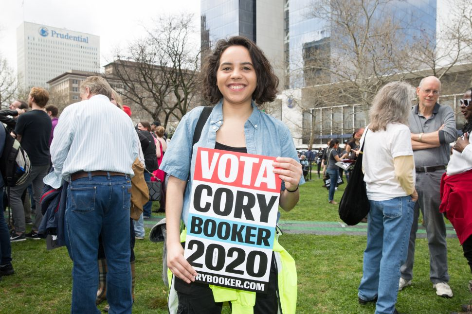 "Valentina at the Cory Booker ""Justice For All"" Kickoff Tour in Newark, N.J. on April 13, 2019."