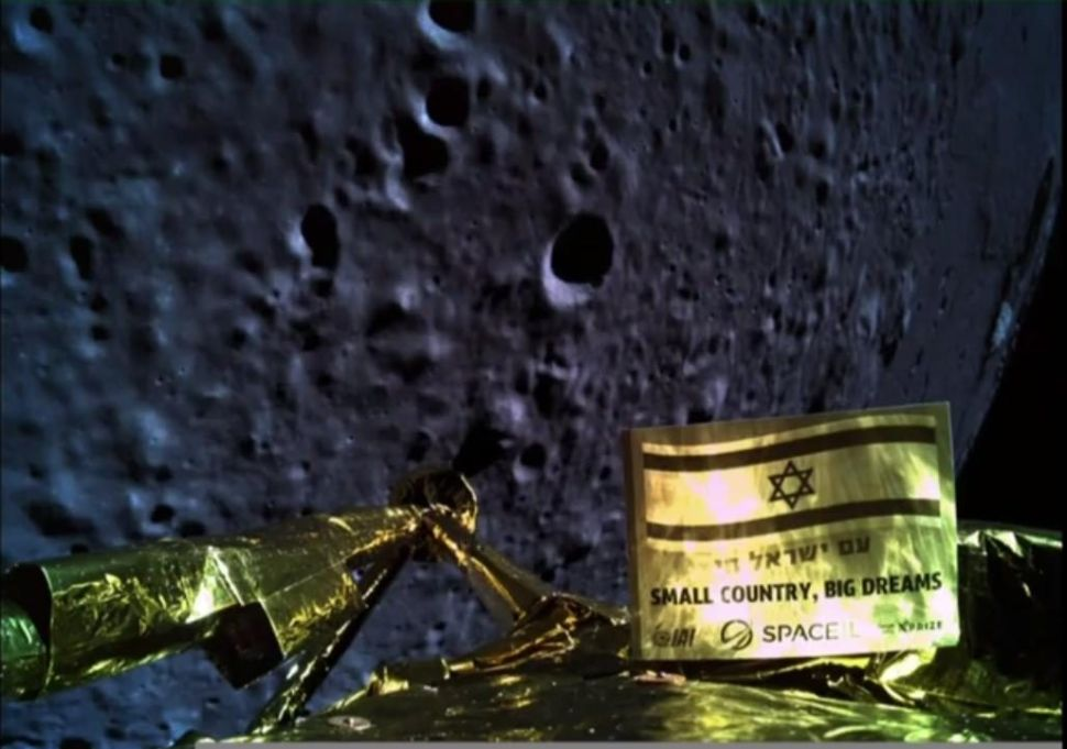 The lander can beam back incredible selfies, like this image taken 22 kilometers from the moon!
