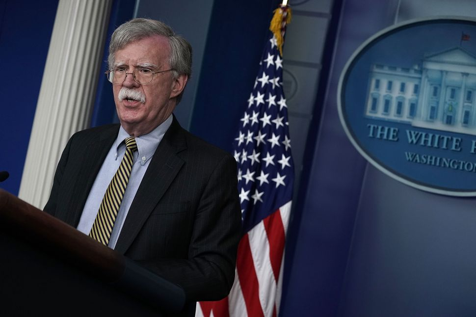 National Security Advisor John Bolton.