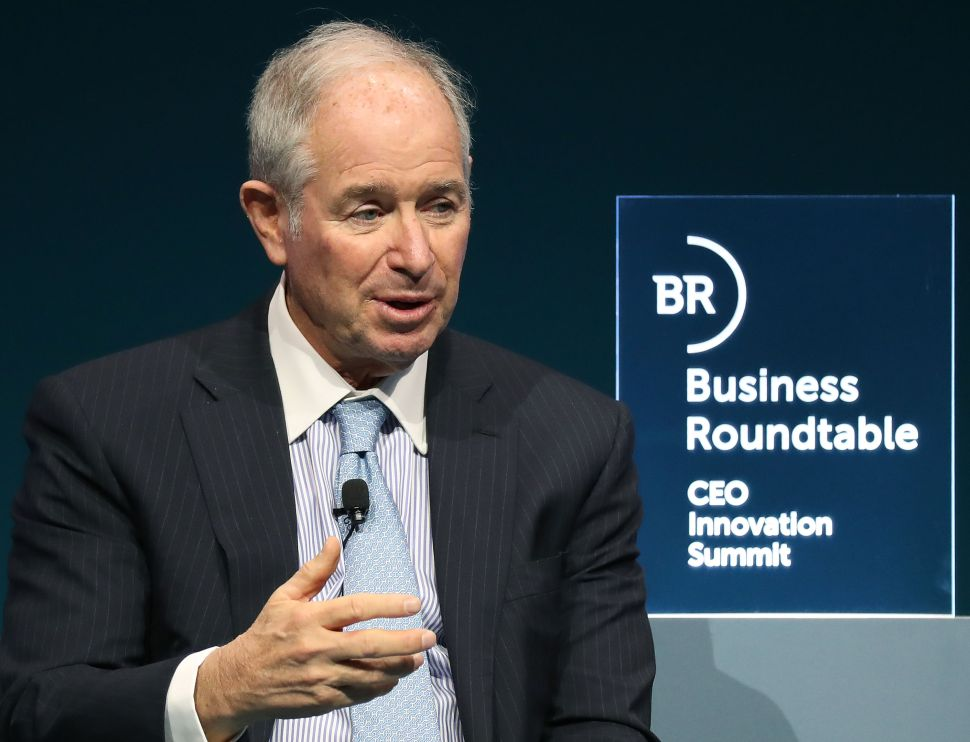 Steve Schwarzman, CEO and co-founder of the Blackstone Group.
