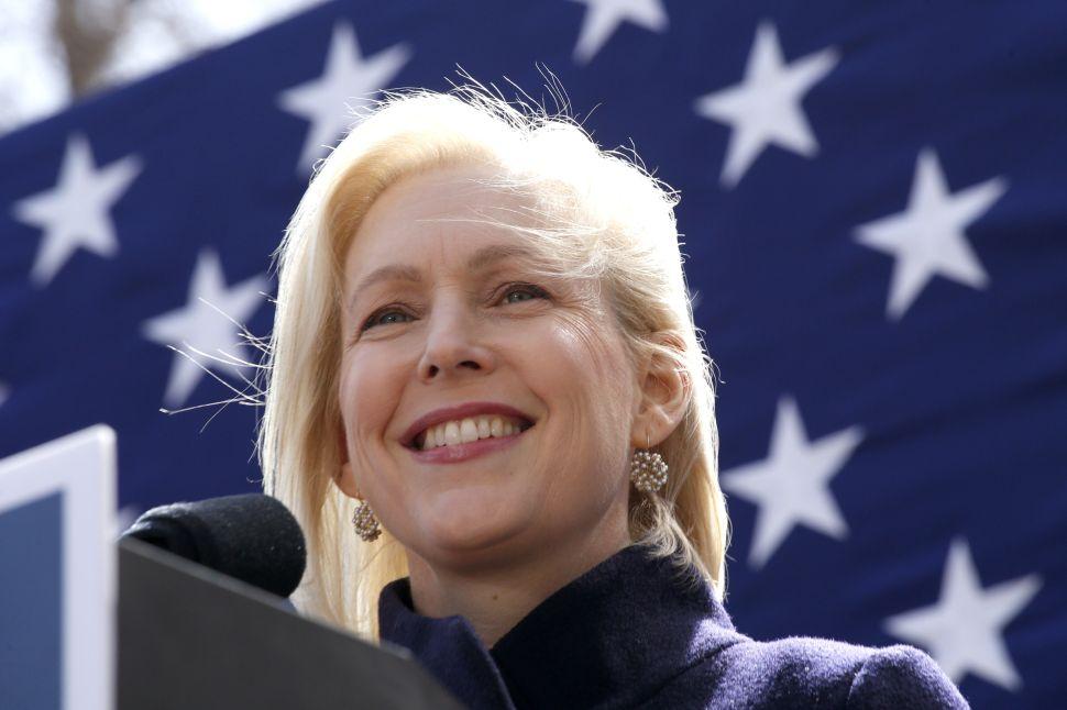 Democratic presidential candidate U.S. Sen. Kirsten Gillibrand.