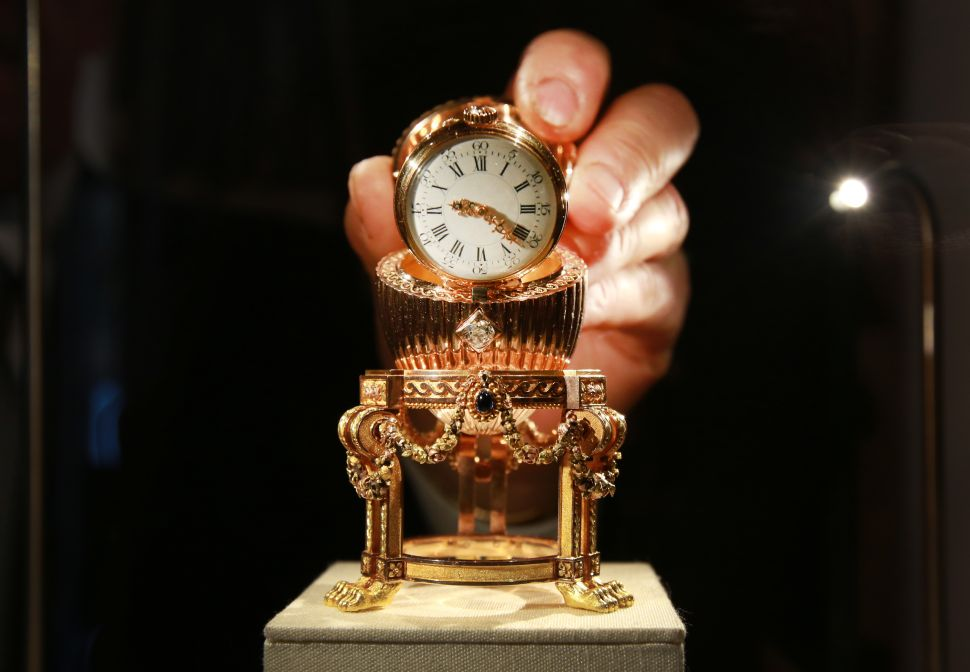 The Third Fabergé Imperial Easter Egg contains a surprise Vacheron Constantin lady's watch inside.