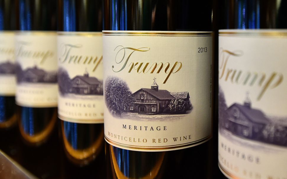 Trump brand wine is seen inside the Trump International Hotel.