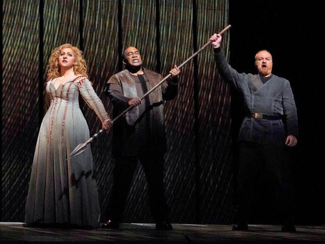 Christine Goerke, Eric Owens and Evgeny Nikitin swear a bloody oath in 'Götterdämmerung'.