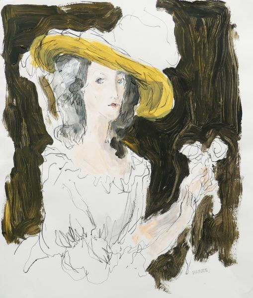 Woman With Hat by Richard Haines