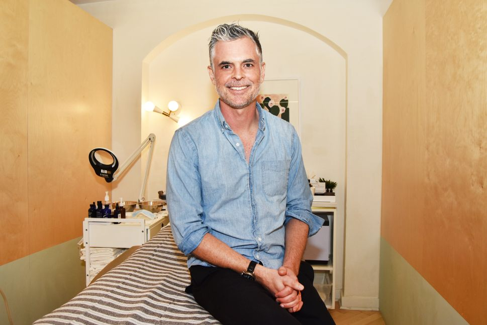 Adam Ross, co-founder and CEO of Heyday, inside a facial room at the NoHo location in New York City.