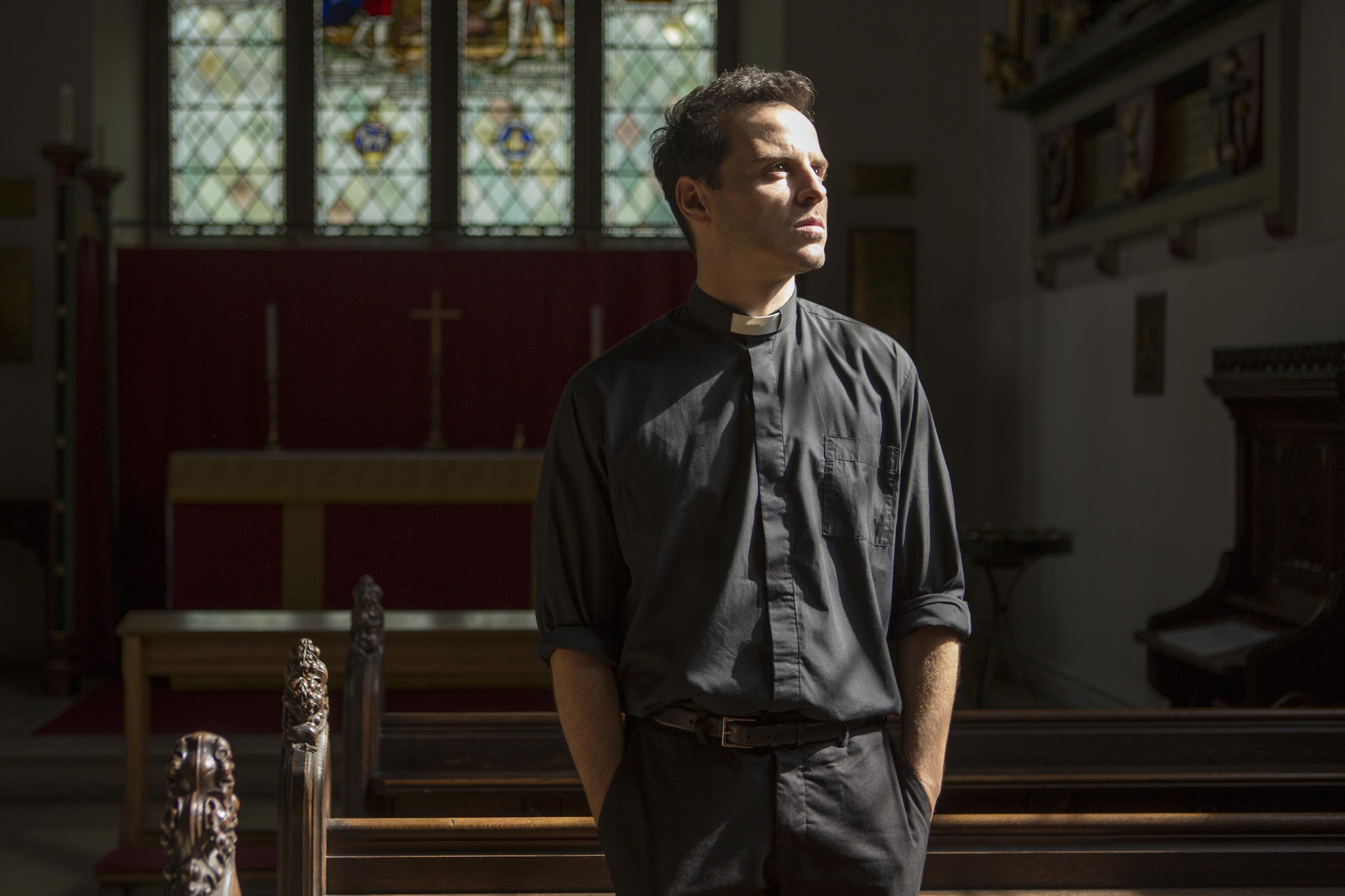 Andrew Scott as the Priest in 'Fleabag.'
