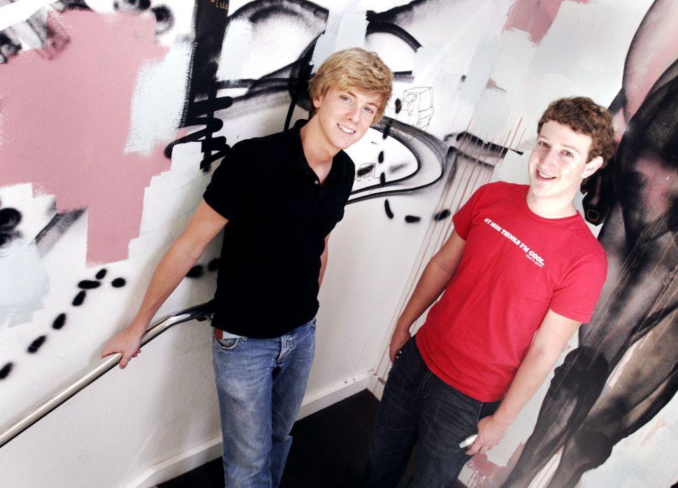 Chris Hughes (left) and Mark Zuckerberg in 2005.