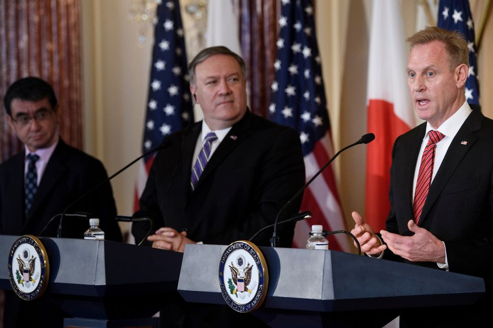 U.S. Secretary of State Mike Pompeo and acting U.S. Secretary of Defense Patrick Shanahan.