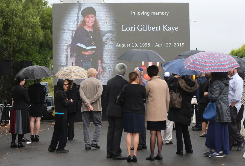 Funeral Service And Vigil Held For Lori Gilbert Kaye, Killed In Shooting At Poway Synagogue