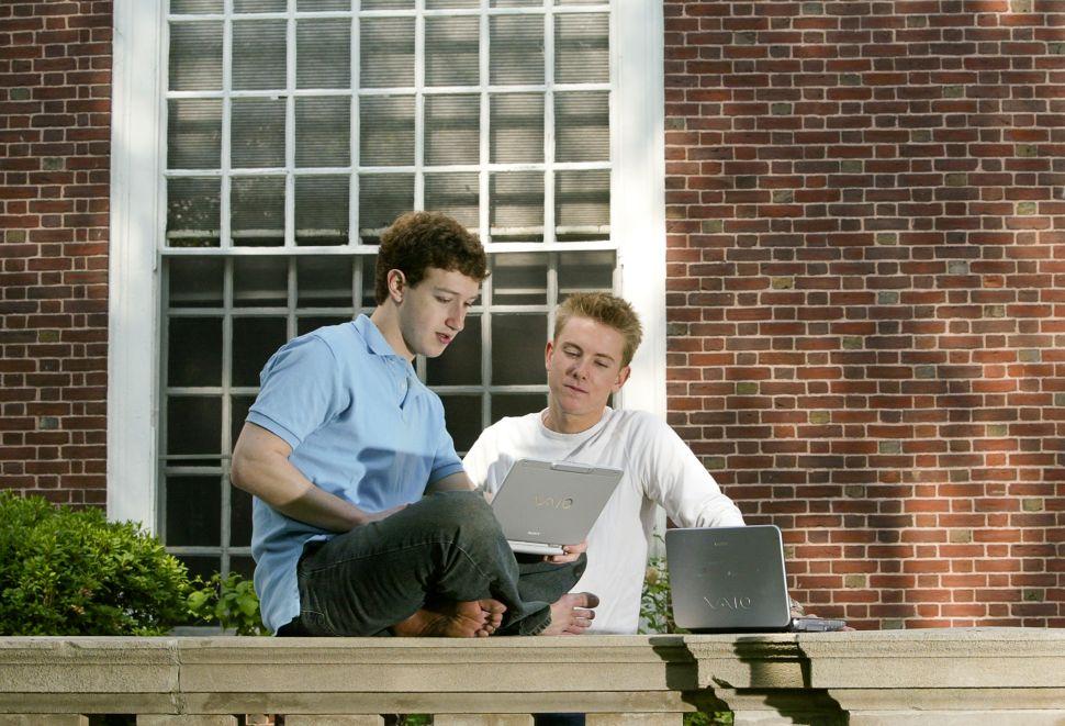 Chris Hughes (R) and Mark Zuckerberg in 2004.