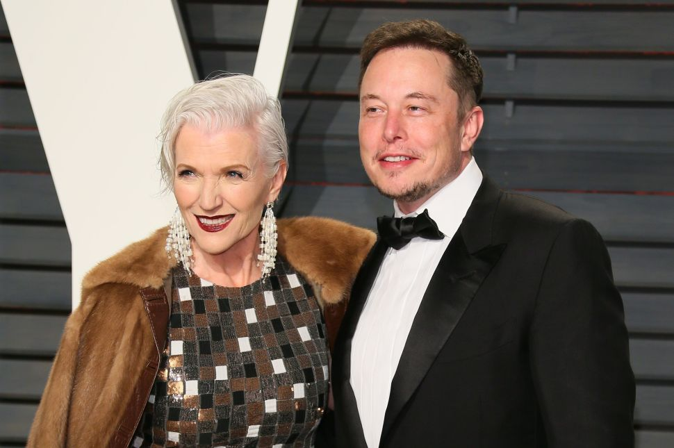 Elon Musk and his mother, supermodel Maye Musk.