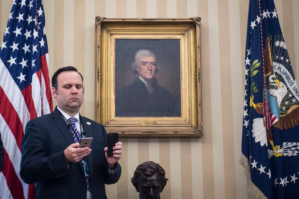 White House aide Dan Scavino.