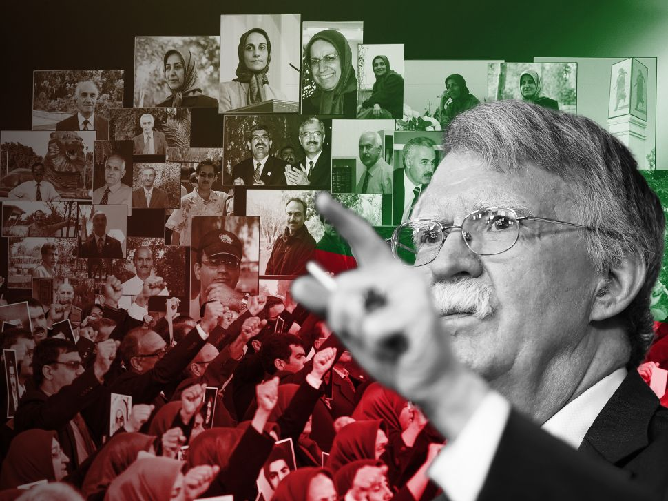 John Bolton and the People's Mujahedeen of Iran.