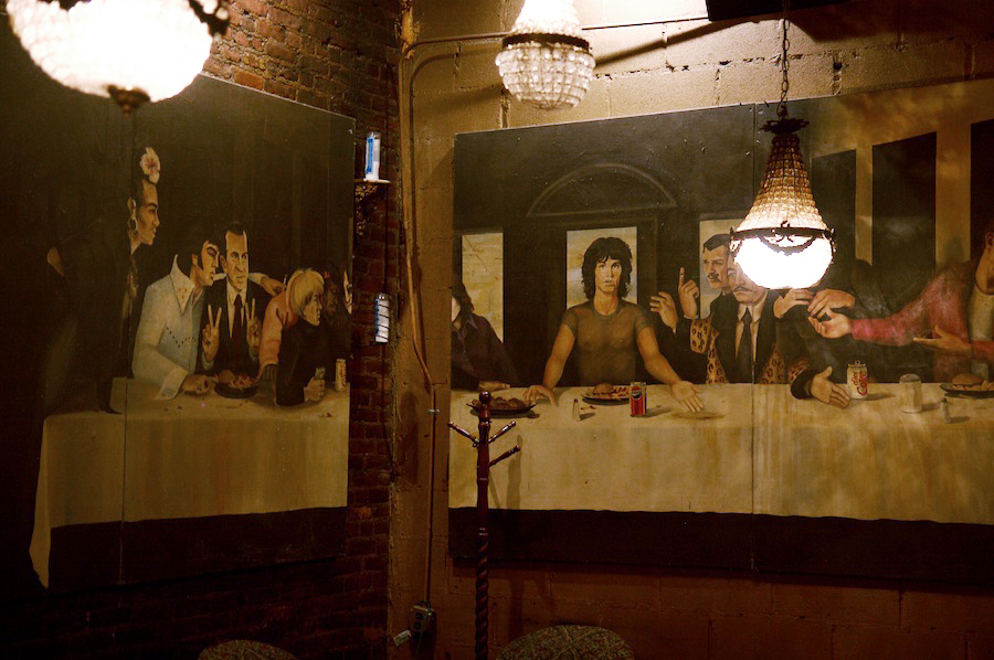 The Last Supper Painting at Art Bar, NYC