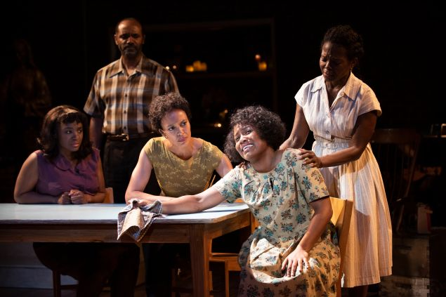 Saycon Sengbloh, Nathaniel Stampley, Eisa Davis, Anastacia McCleskey, and LaChanze in The Secret Life of Bees. Photo: Ahron R. Foster