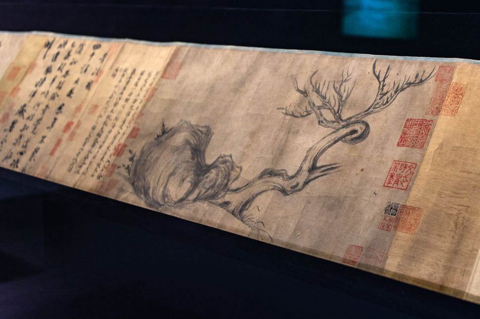 A section of the painting entitled 'Wood and Rock' by Song Dynasty pre-eminent scholar Su Shi