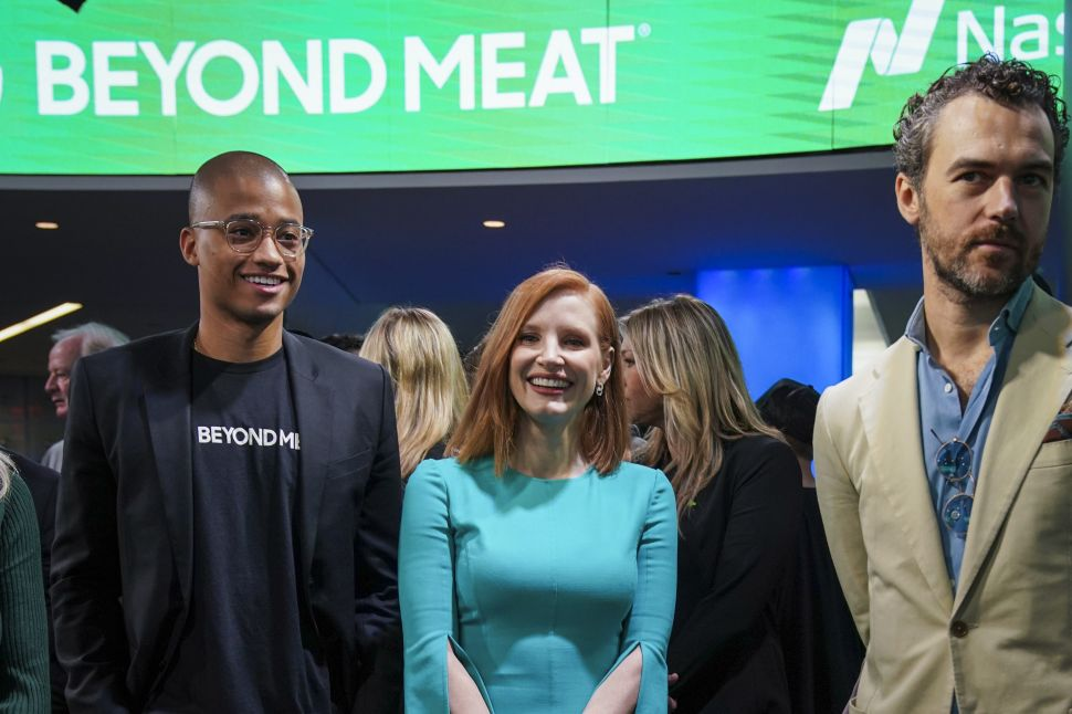 Beyond Meat investor Jessica Chastain