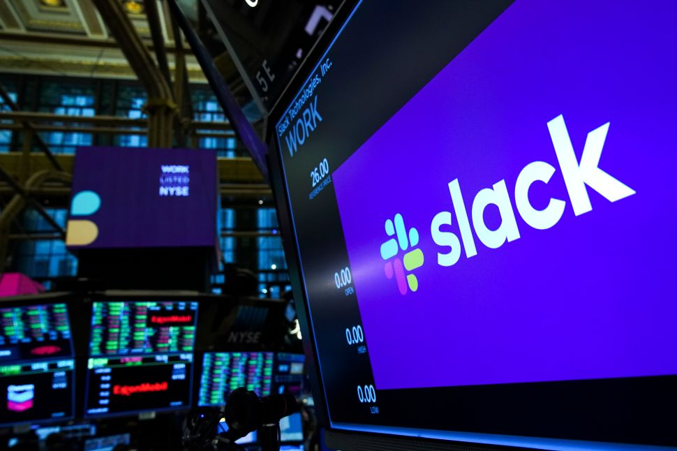 Workplace messaging app Slack debuted on the NYSE Thursday morning.