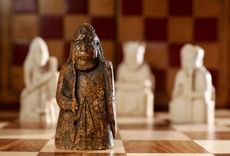 The Lewis Warder chess piece.
