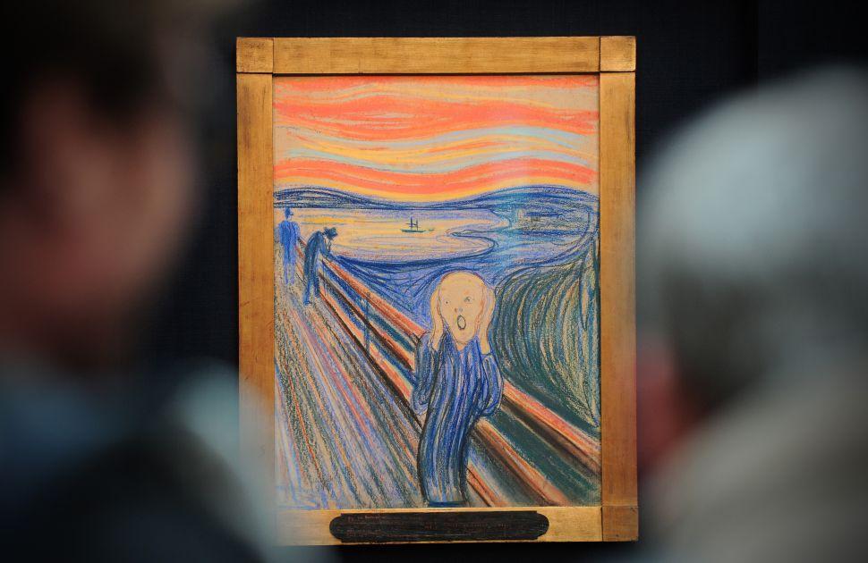 Edvard Munch's 1895 pastel on board work entitled 'The Scream'