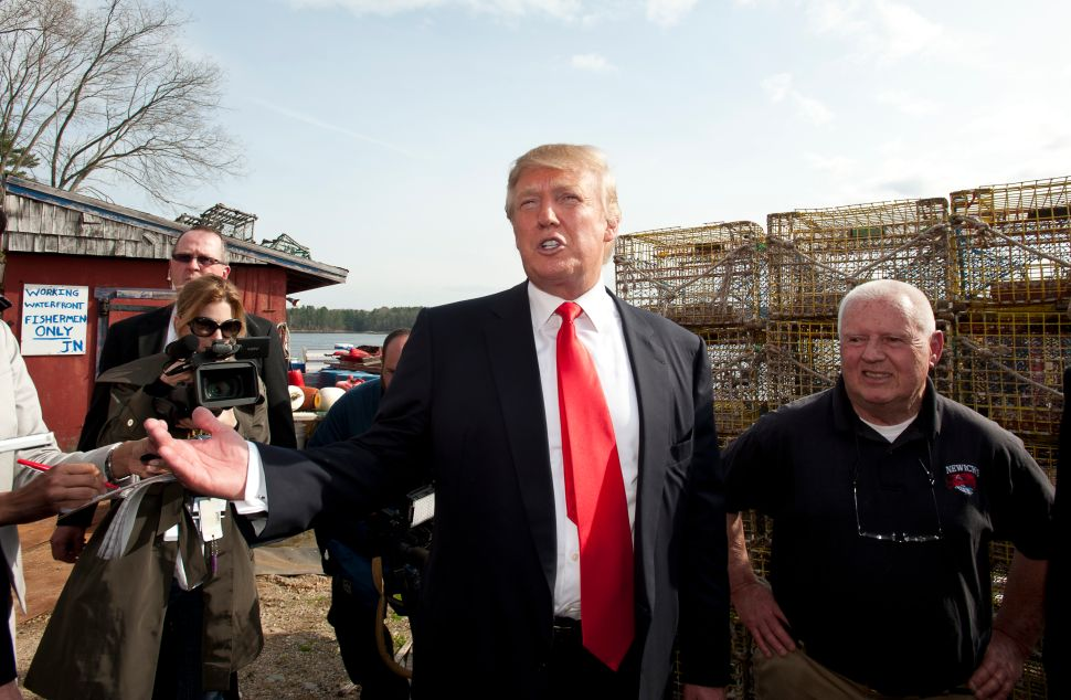 Donald Trump at Newick's Lobster House.