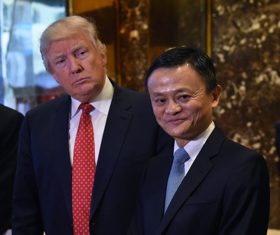 Jack Ma and President Donald Trump