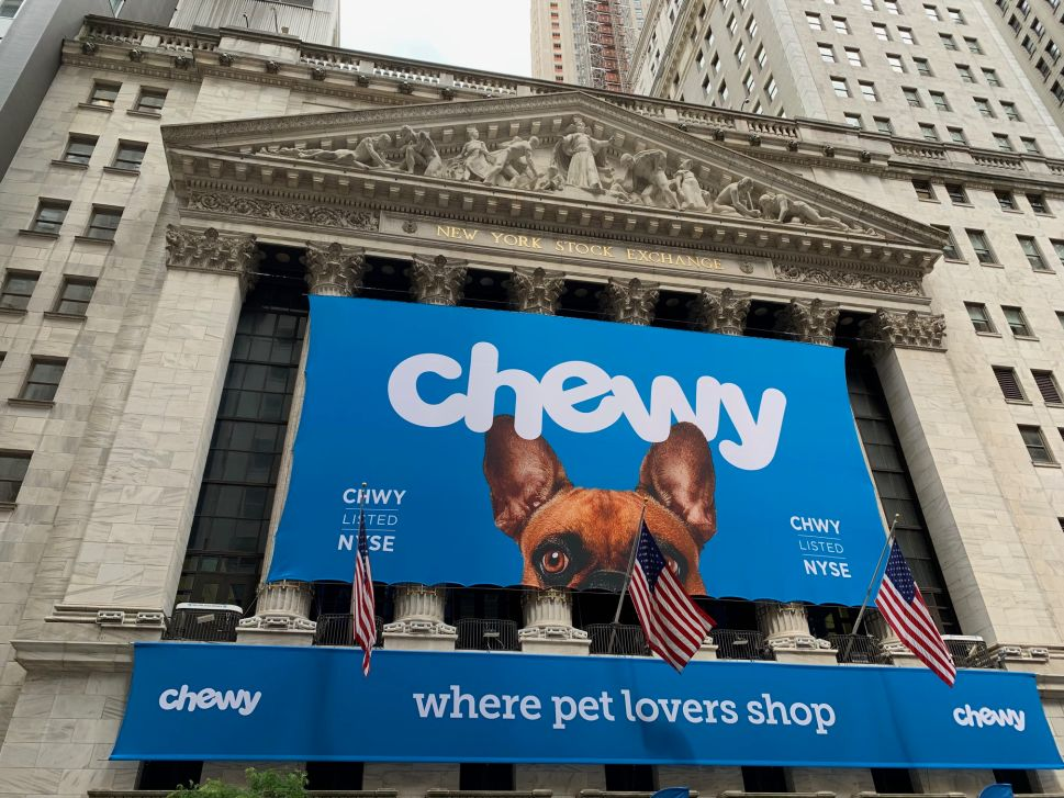 Chewy went public on the NYSE on June 14.