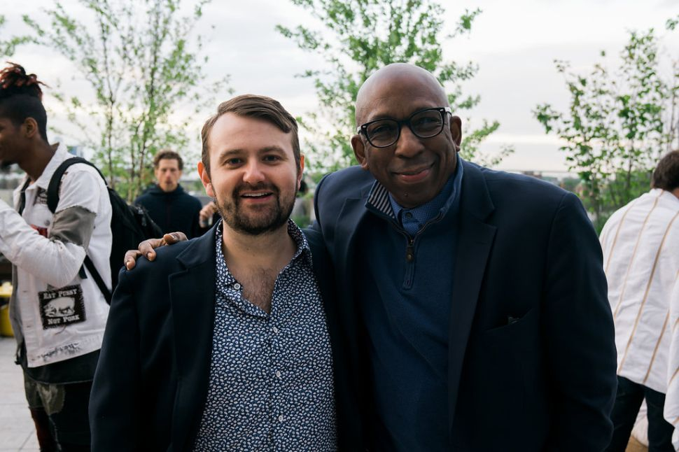 Daniel Spence with Cleveland banker Stephen M. Dalton at the 2018 Northside Festival.