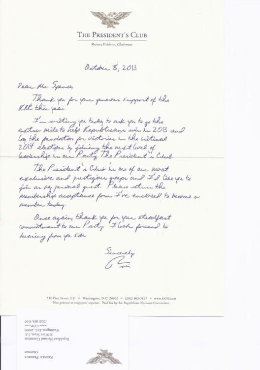 Reince Priebus Letter