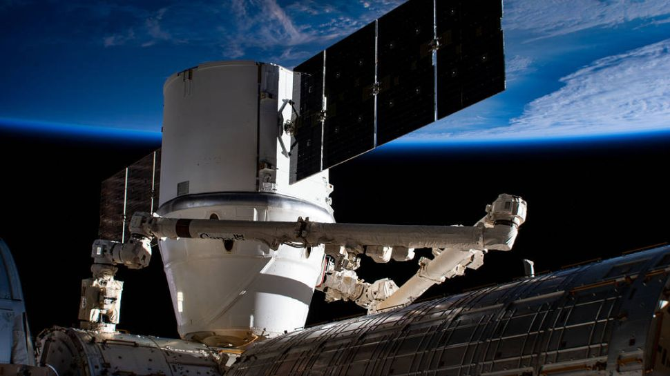 The SpaceX Dragon resupply ship is pictured berthed to the Harmony module as the International Space Station orbited 258 miles above east Asia.