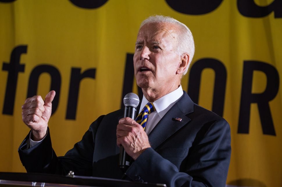 Joe Biden speaks at the Poor People's Moral Action Congress at Trinity University in Washington D.C.
