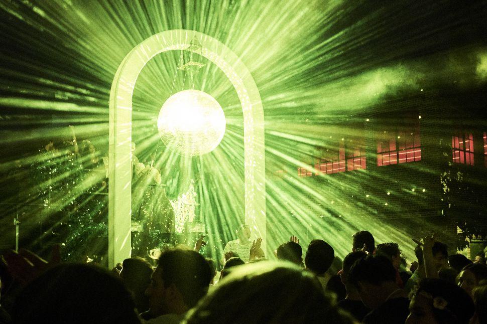 The disco ball at La Luna.