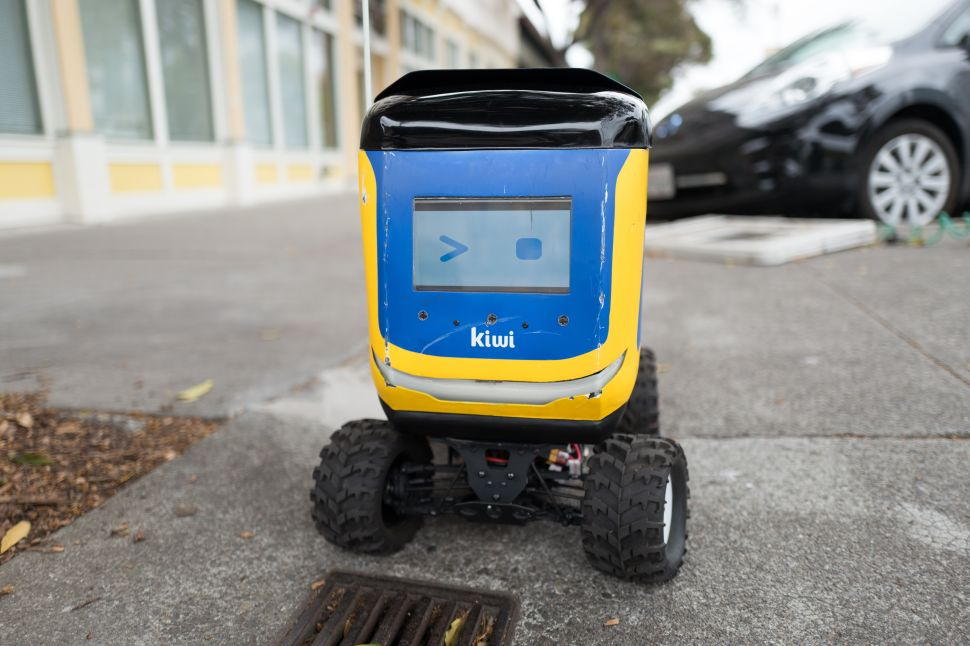 Kiwi self driving autonomous package delivery robot