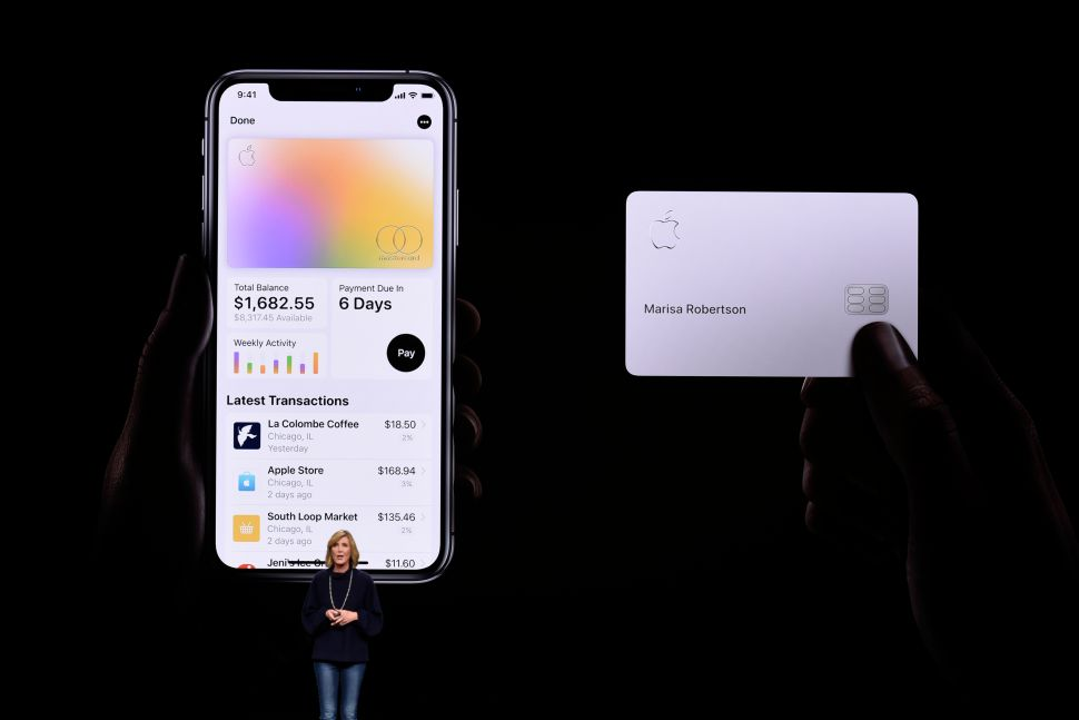 Jennifer Bailey, vice president of Apple Pay, speaks during an Apple product launch event on March 25, 2019 in Cupertino, California.