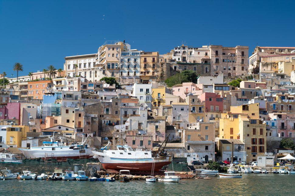 The Verdura Resort is located near the city of Sciacca (pictured) on the south coast of Sicily, Italy.