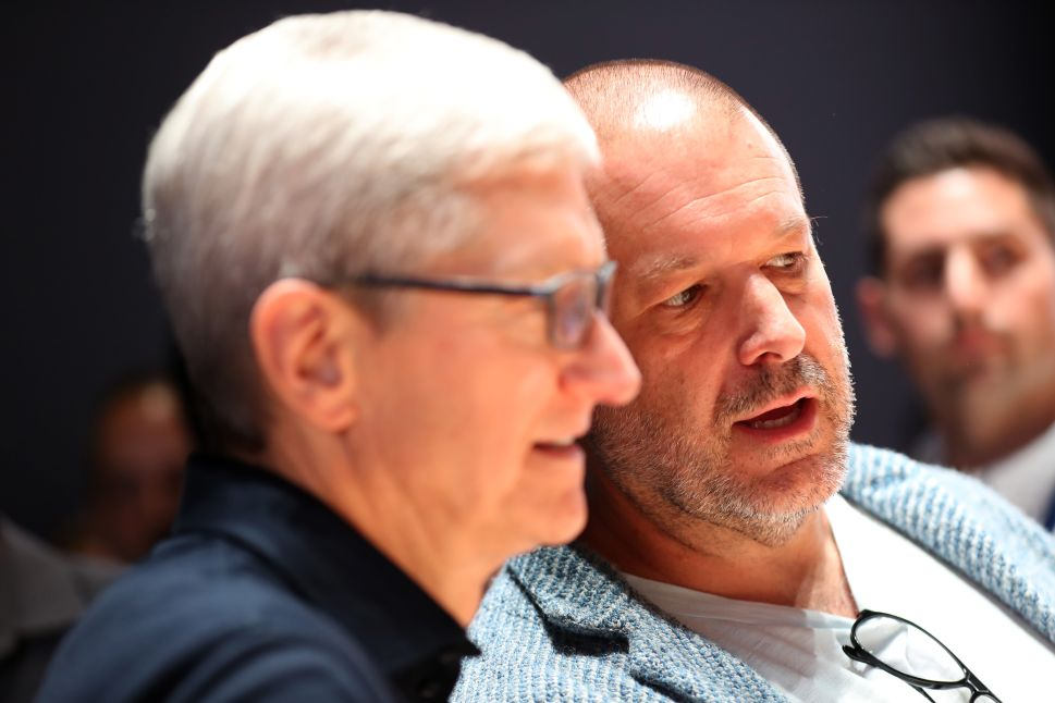 Apple CEO Tim Cook and Apple chief design officer Jony Ive