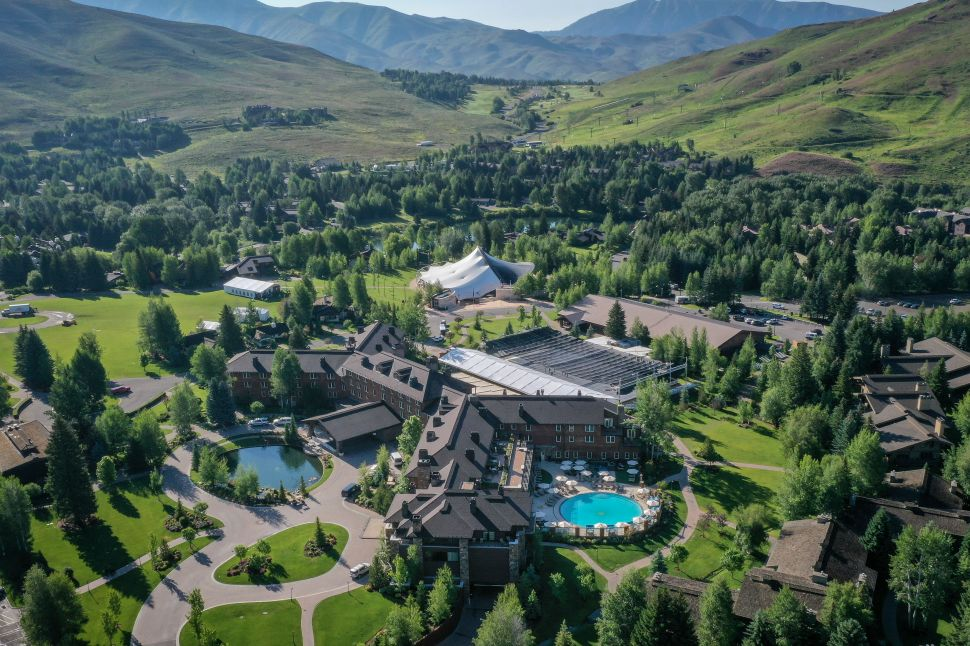 An aerial view of the Sun Valley Resort ahead of the annual Allen & Company Sun Valley Conference, July 9, 2019 in Sun Valley, Idaho.