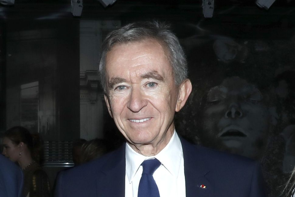 Bernard Arnault's net worth currently stands at $107 billion.