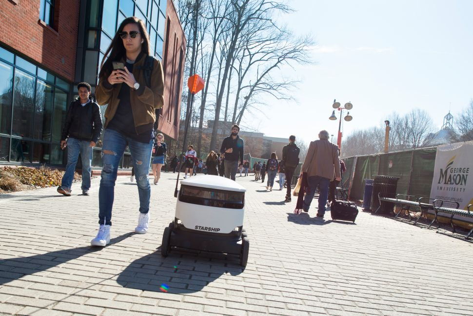 Starship Technologies' delivery robots arrive at college campuses this fall.