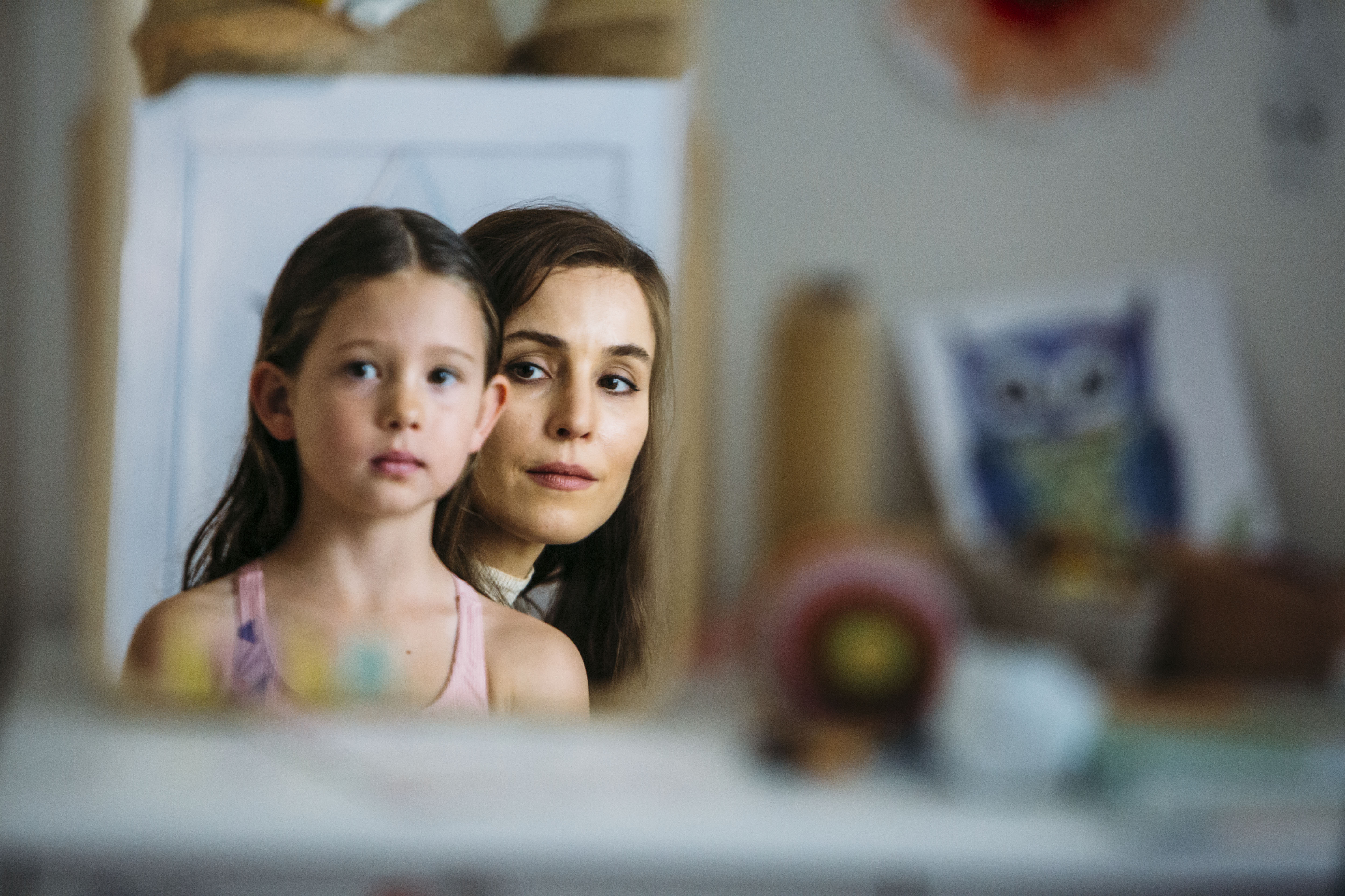 Annika Whiteley and Noomi Rapace in Angel of Mine.