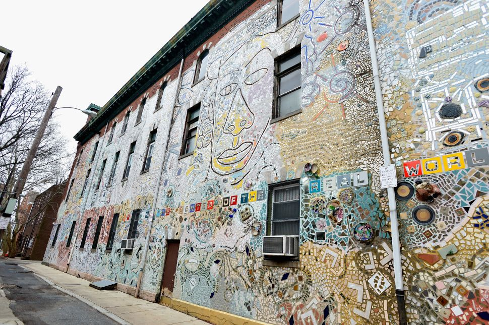 Some of Isaiah Zagar's murals on South Street, Philadelphia.