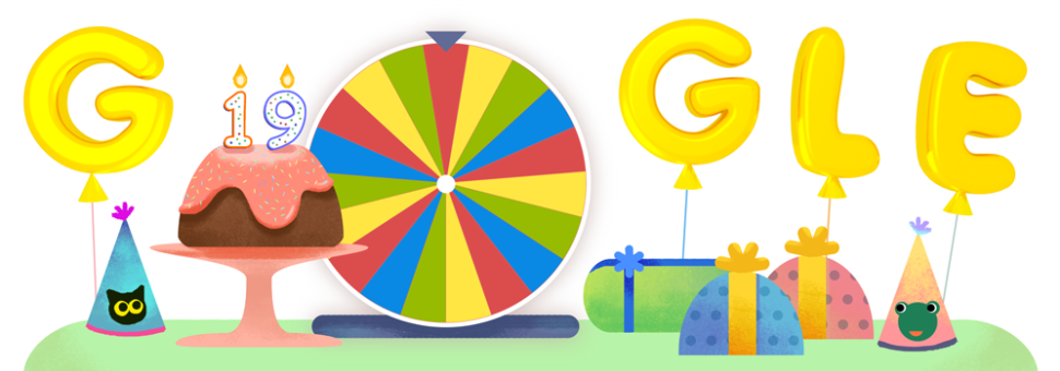 Google's 19th birthday doodle.