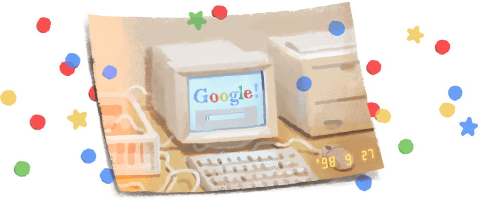 The Google doodle for Google's 21st birthday.